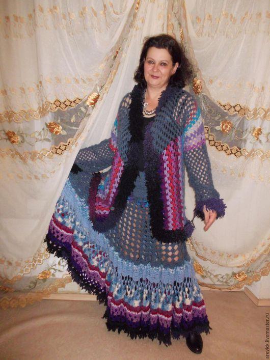 """Костюмы ручной работы. Ярмарка Мастеров - ручная работа. Купить Вязаный костюм в стиле """"бохо"""". Handmade. Комбинированный, бохо"""