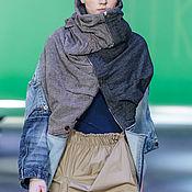 Куртки ручной работы. Ярмарка Мастеров - ручная работа Апсайкл куртка с трансформером капюшоном. Handmade.