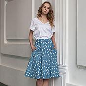 Одежда ручной работы. Ярмарка Мастеров - ручная работа Стильная летняя юбка из натурального хлопка. Handmade.