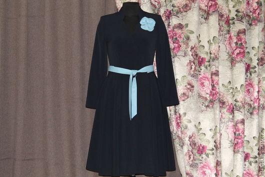Платья ручной работы. Ярмарка Мастеров - ручная работа. Купить Платье. Handmade. Тёмно-синий, модные вещи, красивая одежда