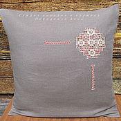 Pillow handmade. Livemaster - original item Coffee with milk linen 42/42 Ivanovo line No. №5 decorative pillowcase. Handmade.