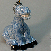 Сувениры и подарки ручной работы. Ярмарка Мастеров - ручная работа колокольчик синяя лошадь символ 2014 года. Handmade.
