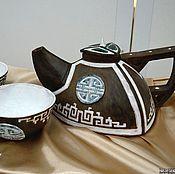 """Посуда ручной работы. Ярмарка Мастеров - ручная работа Набор """"Ханский"""",  для калмыцкого или зеленого чая. Handmade."""