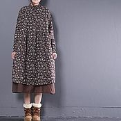 Одежда handmade. Livemaster - original item Dress big size / brown. Handmade.