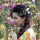 """Свадебные украшения ручной работы. Ярмарка Мастеров - ручная работа. Купить Аксессуар для волос """"Фрезия"""". Цветы из шелка. Цветы из ткани. Handmade."""