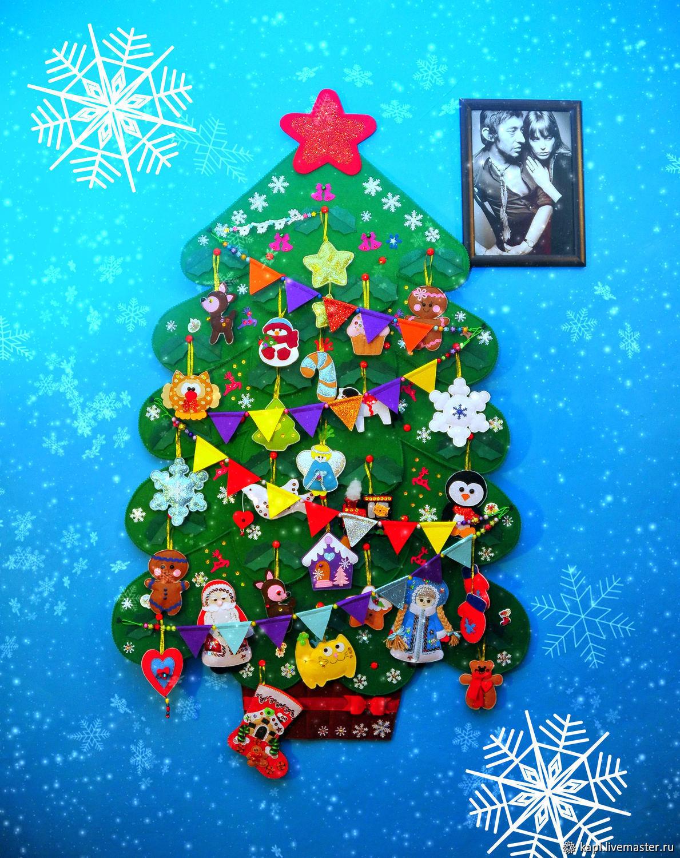 A large Christmas tree on the wall, Tree, Kyzyl,  Фото №1