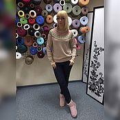 Одежда ручной работы. Ярмарка Мастеров - ручная работа Джемпер, шапка, шарф вязаные из 30% итальянской шерсти.№108. Handmade.