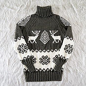 Одежда handmade. Livemaster - original item Knitted sweater with deer (No. №401). Handmade.