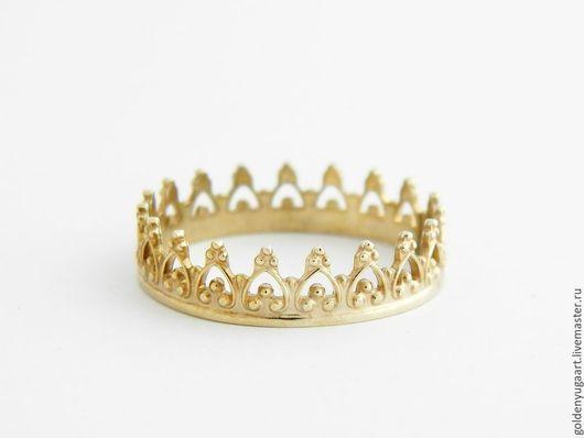 Кольца ручной работы. Ярмарка Мастеров - ручная работа. Купить Кольцо для принцессы, желтое золото 585 пробы. Handmade. для кукол