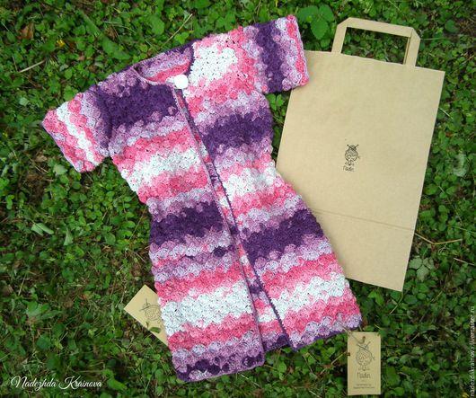 Одежда для девочек, ручной работы. Ярмарка Мастеров - ручная работа. Купить Удлиненный жакет для девочки. Handmade. Розовый, удлиненный жилет