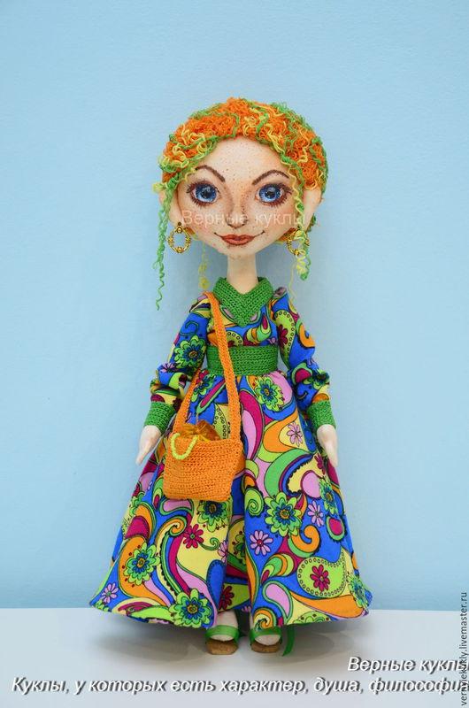 Коллекционные куклы ручной работы. Ярмарка Мастеров - ручная работа. Купить Злата. Интерьерная авторская кукла. Handmade. Желтый, радость