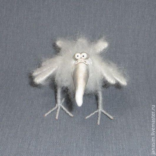 Игрушки животные, ручной работы. Ярмарка Мастеров - ручная работа. Купить Ворона белая.. Handmade. Белый, птичка, пластика