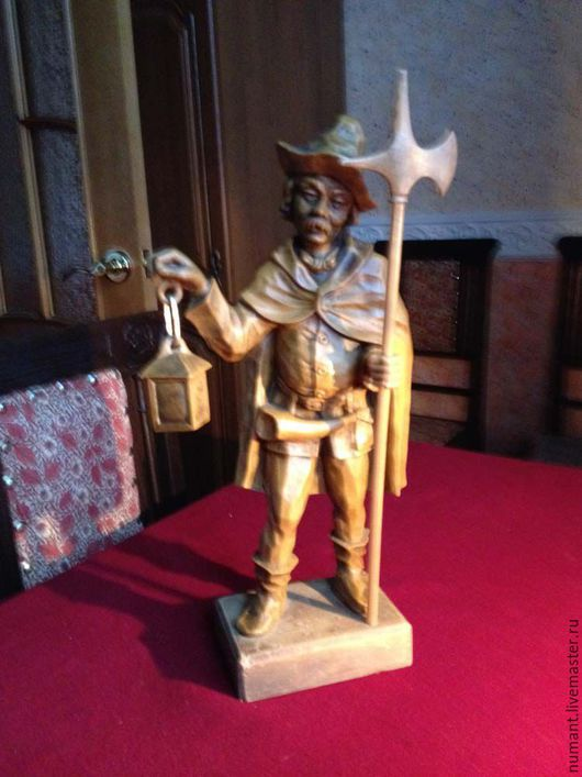 """Винтажные сувениры. Ярмарка Мастеров - ручная работа. Купить Интерьерная фигура """"Ночной стражник"""". Handmade. Оранжевый, интерьер"""