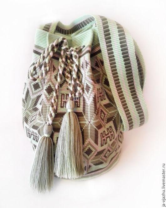 Женские сумки ручной работы. Ярмарка Мастеров - ручная работа. Купить Колумбийская сумка Mochila (Мочила) - 4. Handmade. Комбинированный