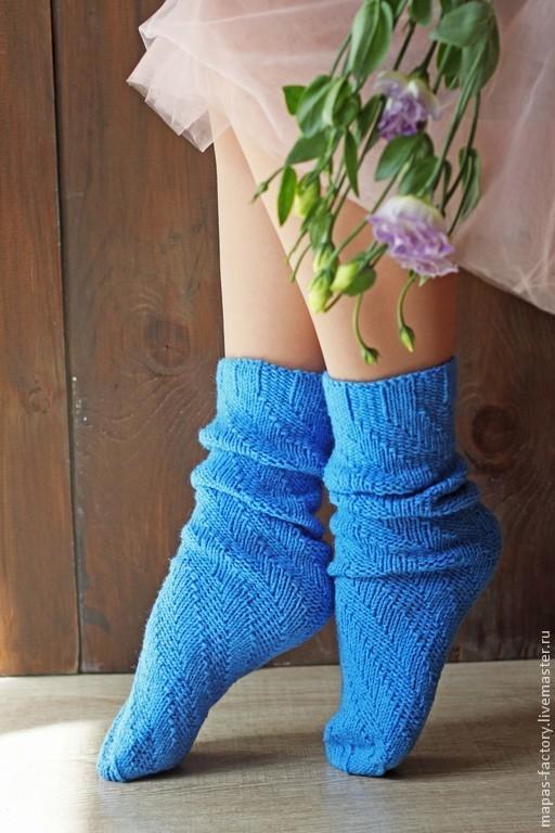 Носки ручной вязки с рельефным рисунком. Ручная работа. Можно купить в магазинчике MaPa`s factory!