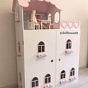Кукольные домики ручной работы. Ярмарка Мастеров - ручная работа Кукольный домик для Barbie с распашными дверками. Handmade.