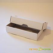Коробки ручной работы. Ярмарка Мастеров - ручная работа Самосборная коробка 15х8х3см белый. Handmade.