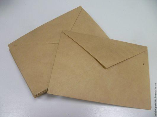 Упаковка ручной работы. Ярмарка Мастеров - ручная работа. Купить Конверт крафт 16х23 см. Handmade. Конверт, письмо
