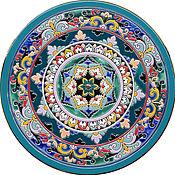 Посуда ручной работы. Ярмарка Мастеров - ручная работа Тарелка декоративная керамическая.40см.. Handmade.