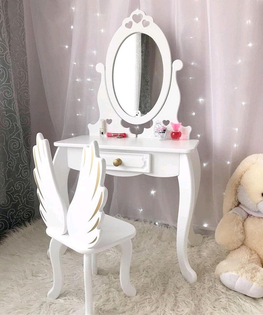 Dressing Table Console With Mirror For