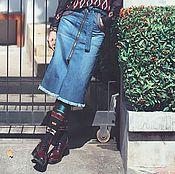 Одежда ручной работы. Ярмарка Мастеров - ручная работа Юбка джинсовая. Handmade.