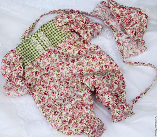 Одежда для кукол ручной работы. Ярмарка Мастеров - ручная работа. Купить Комплект одежды для куклы- младенца 38- 40 см. Handmade.