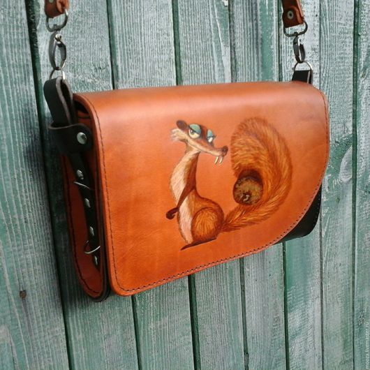 Женские сумки ручной работы. Ярмарка Мастеров - ручная работа. Купить Маленькая сумочка через плечо Белка. Handmade. Рыжий