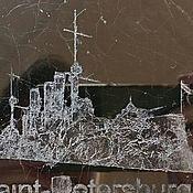 Сувениры и подарки ручной работы. Ярмарка Мастеров - ручная работа Сувенир с крейсером Аврора оптом купить в Спб картина на стекле. Handmade.