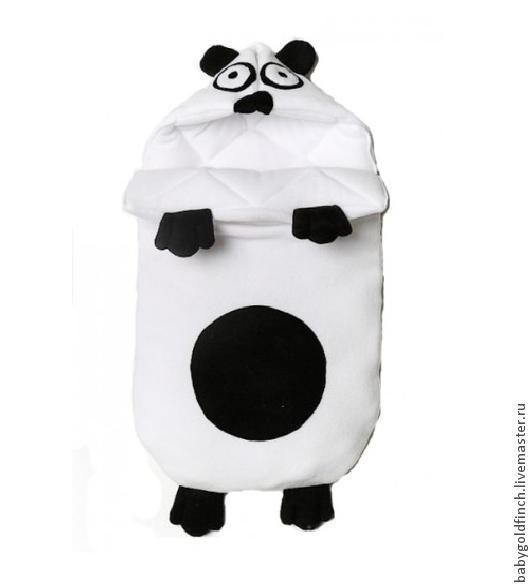 Для новорожденных, ручной работы. Ярмарка Мастеров - ручная работа. Купить Конверт на выписку для новорожденного панда весна лето лето зима. Handmade.