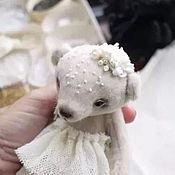 Куклы и игрушки ручной работы. Ярмарка Мастеров - ручная работа мишка Снежана. Handmade.