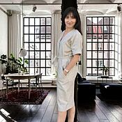 Одежда handmade. Livemaster - original item Striped linen shirt dress. Handmade.