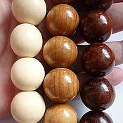 Бусины ручной работы. Ярмарка Мастеров - ручная работа Крупные деревянные бусины. Handmade.