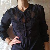 Одежда ручной работы. Ярмарка Мастеров - ручная работа Блузка  с кружевом. Handmade.