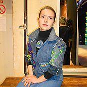 """Одежда ручной работы. Ярмарка Мастеров - ручная работа Джинсовый жакет """"Стиль"""". Handmade."""