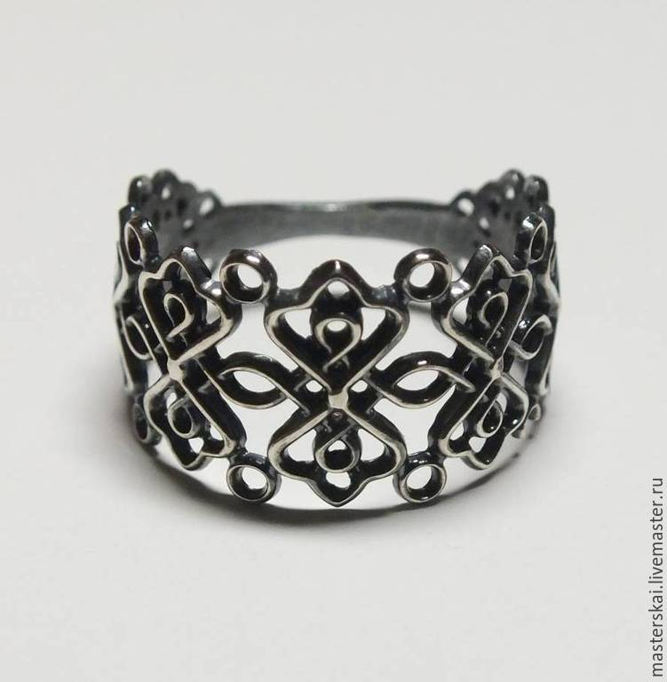 Openwork ring - blackened silver 925, Rings, Moscow,  Фото №1