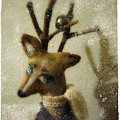 Куклы и игрушки ручной работы. Ярмарка Мастеров - ручная работа Маленький осенний олень.... Handmade.