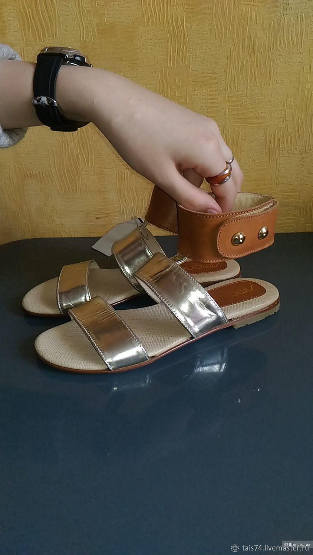 f286f8d5b9da Винтаж: Итальянские босоножки из натуральной кожи – купить в  интернет-магазине ...