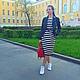 """Платья ручной работы. Заказать SALE Платье """"Полосатый рейс"""". Nastasia Sabio. Ярмарка Мастеров. Полосатое платье, черно-белое"""
