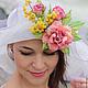 """Шляпы ручной работы. Ярмарка Мастеров - ручная работа. Купить Эксклюзивная шляпа """"L'Eveil du printemps"""" (Пробуждение Весны). Handmade."""