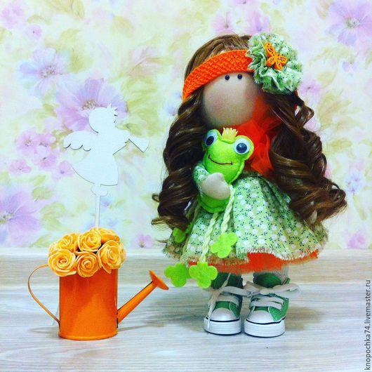 """Куклы тыквоголовки ручной работы. Ярмарка Мастеров - ручная работа. Купить Интерьерная кукла """"Дюймовочка"""". Handmade. Комбинированный, интерьерная кукла"""