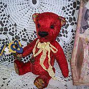 Куклы и игрушки ручной работы. Ярмарка Мастеров - ручная работа Мишка обыкновенный. Красный.. Handmade.