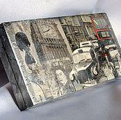 Для дома и интерьера ручной работы. Ярмарка Мастеров - ручная работа Купюрница мужская Лондон, шкатулка для хранения денег. Handmade.