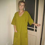 Одежда ручной работы. Ярмарка Мастеров - ручная работа бохо платье (хлопок с добавлением спандекса). Handmade.