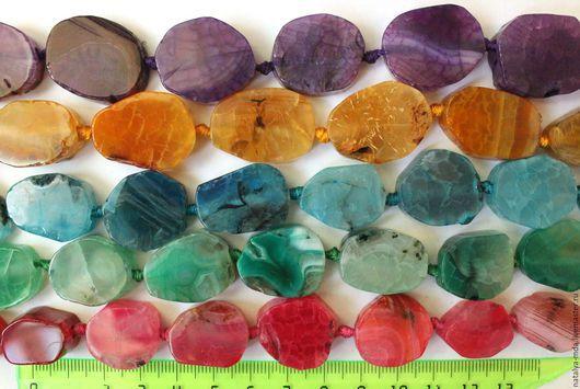 Для украшений ручной работы. Ярмарка Мастеров - ручная работа. Купить Агат разноцветный. Handmade. Разноцветный, для бижутерии, фиолетовый