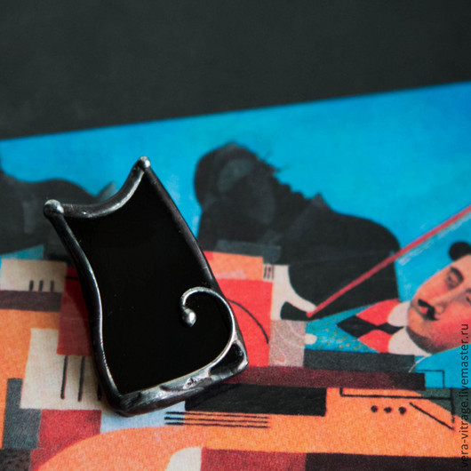 Броши ручной работы. Ярмарка Мастеров - ручная работа. Купить Брошо-Кот. В стиле минимализма Стекло, металл. витражные украшения. Handmade.
