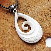 Украшения handmade. Livemaster - original item Carved Wave pendant Maori. Handmade.
