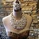 Авторские украшения бижутерия из натурального жемчуга и камней роскошные красивые элитные жемчужные модные колье серьги браслеты комплект купить в интернете в Москве