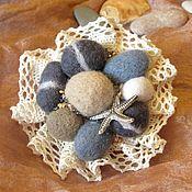 Украшения handmade. Livemaster - original item Brooch sea pebbles. Handmade.
