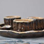 Посуда ручной работы. Ярмарка Мастеров - ручная работа Набор рюмок. Handmade.