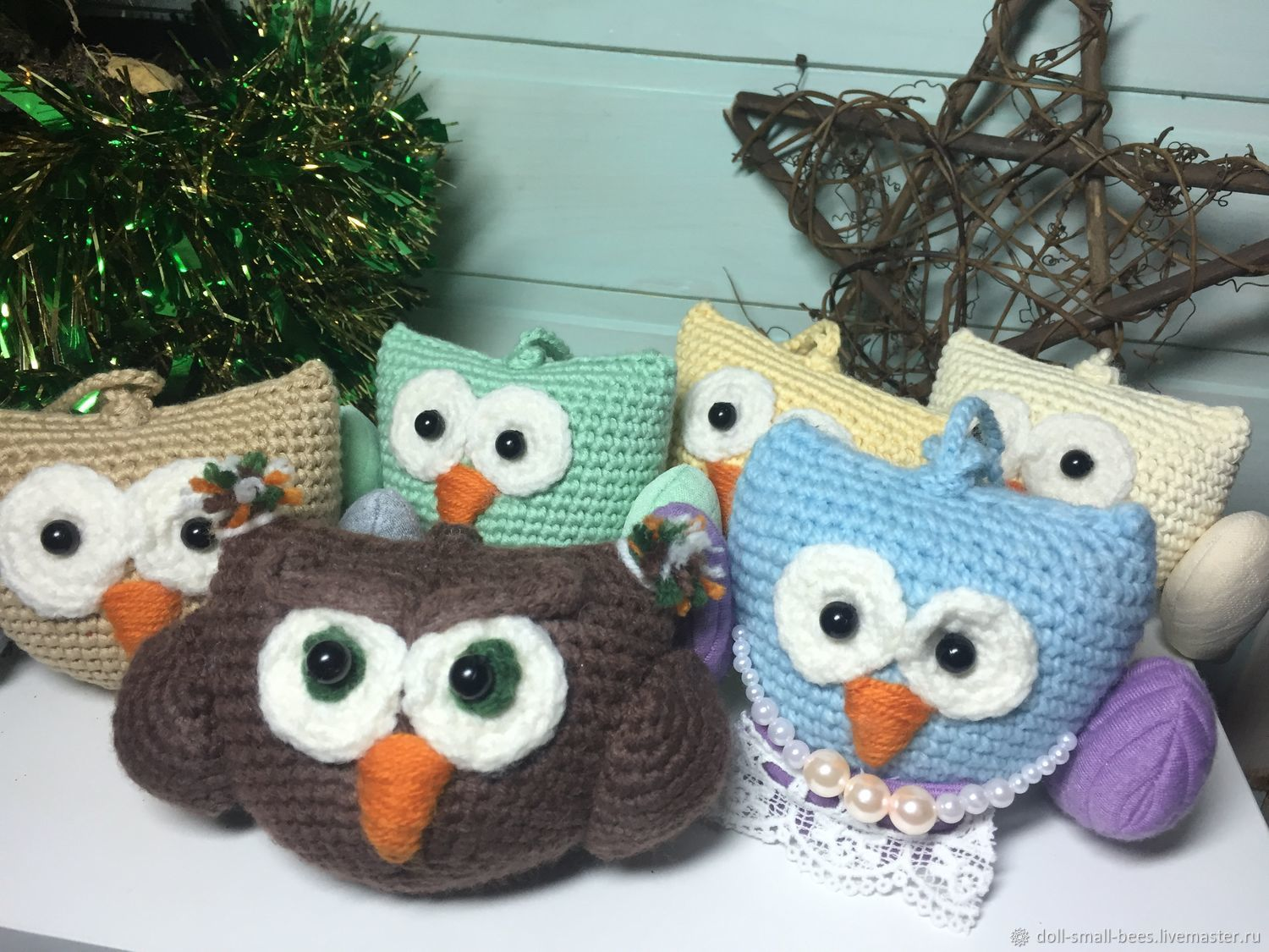 A set of knitted Christmas decorations Sowosky custom made ! Good Christmas gift for family, friends and colleagues!